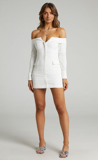 Runaway The Label - Chroma Dress in White