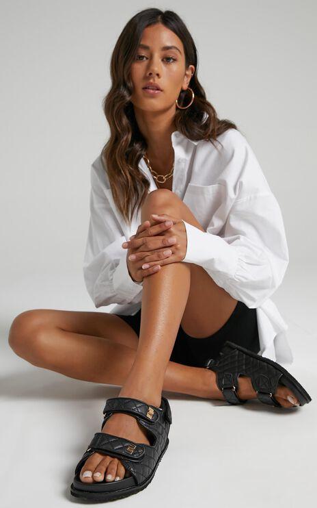 Public Desire - Carmen Sandals in Black PU