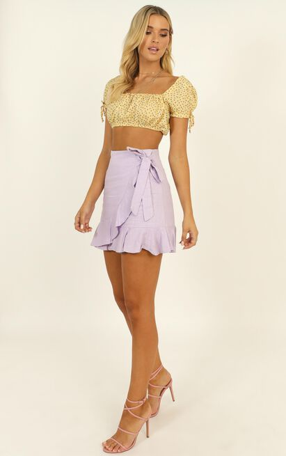 Over And Under Skirt in lilac linen look - 20 (XXXXL), Purple, hi-res image number null