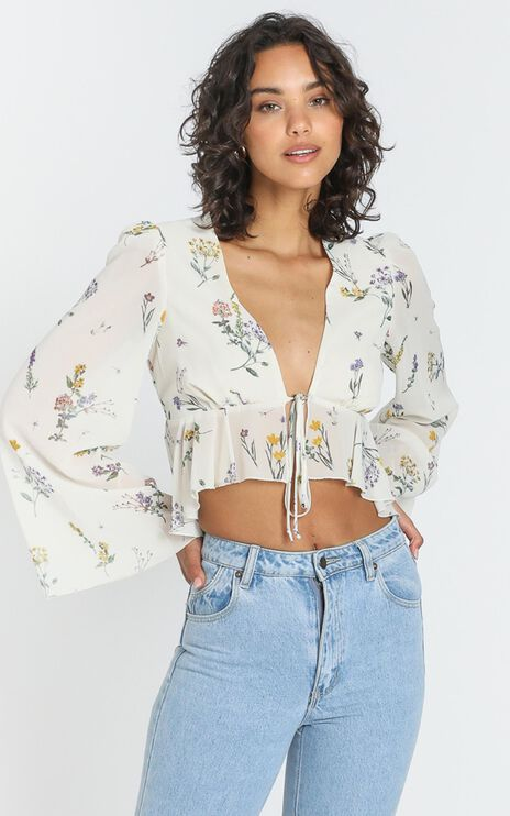 Dance It Out Top in Botanical Floral