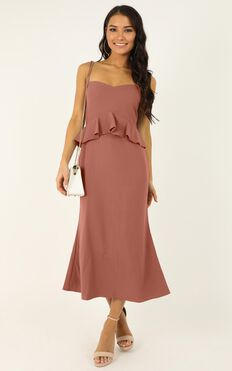 Tuesday Blues Dress In Dusty Rose