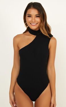 Not The Kind Of Girl Bodysuit In Black