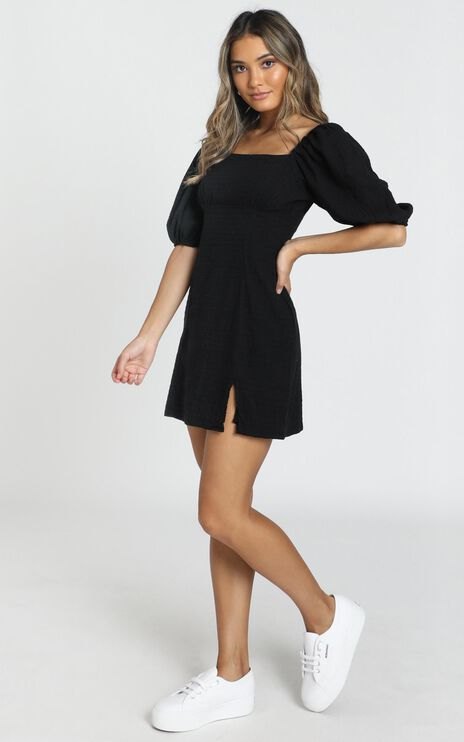 Electric Babe Dress in Black