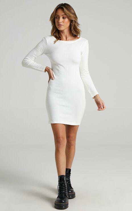 Sonya Knit Dress in White