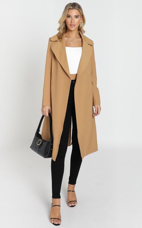 Back To the Start Coat In Camel