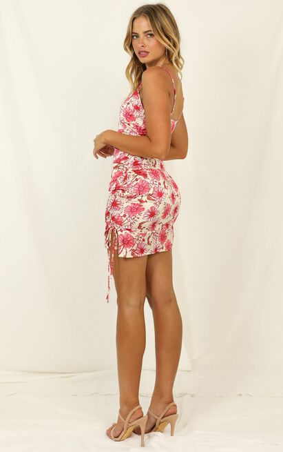 Dancing Solo dress in pink floral - 12 (L), Pink, hi-res image number null