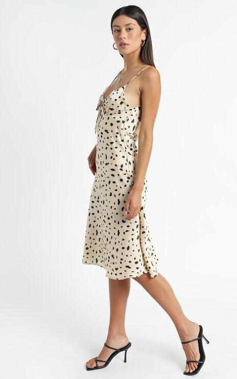 Toss The Dice Dress In Leopard Print