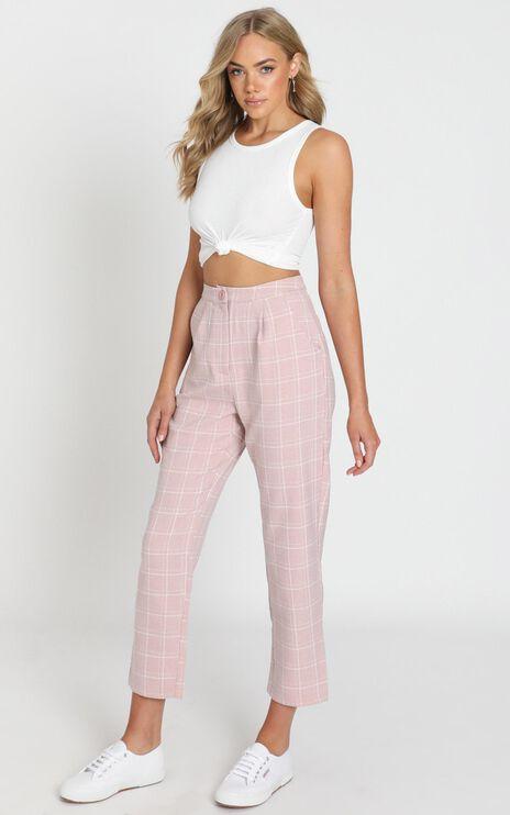 Alpine Pants in Blush Check