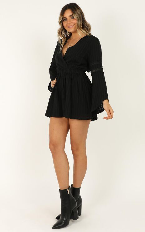 Beyond The Limit Playsuit In Black