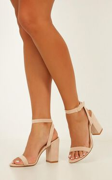 Billini - Nikaia Heels In Blush Micro
