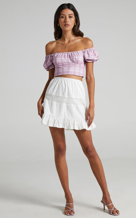 Zahra Skirt in White