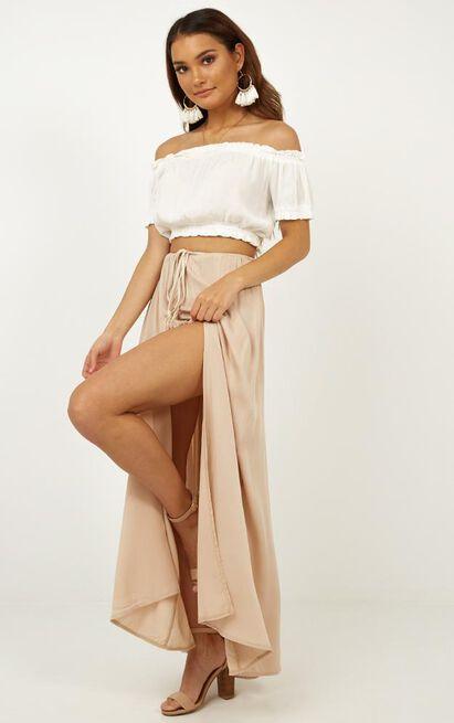 Under The Twilight maxi skirt in beige - 6 (XS), Beige, hi-res image number null