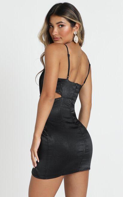 Talking Pretty Dress in black satin - 4 (XXS), Black, hi-res image number null