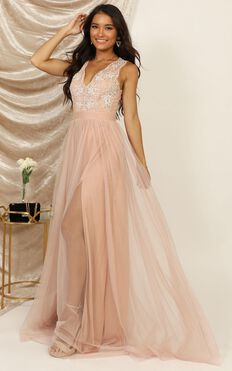 Miss You So Much Maxi Dress In Blush