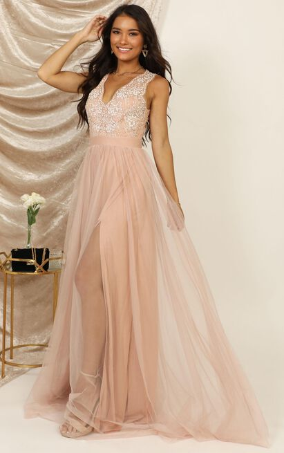 Miss You So Much maxi dress in blush - 12 (L), Blush, hi-res image number null
