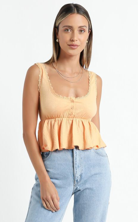 Valma Top in Orange