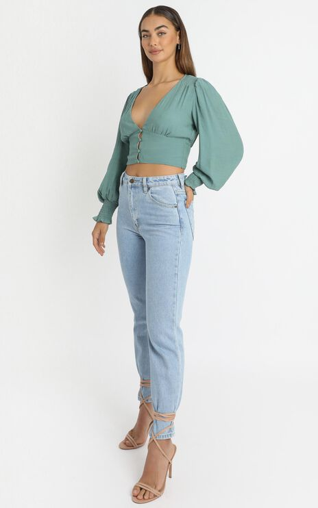 Adah Top in Emerald