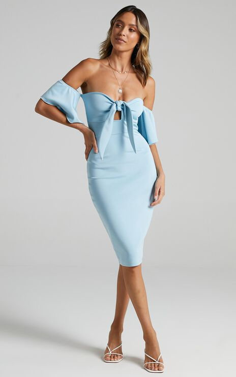 Guest Edit Dress in Light Blue