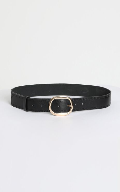On Tour Belt in Black and Gold