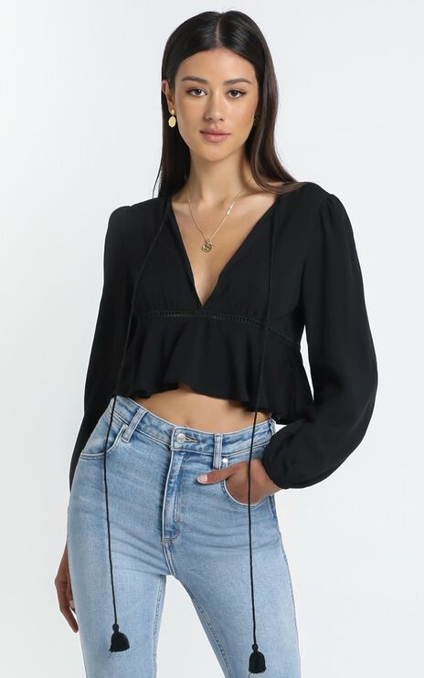 Gretchen Top in Black