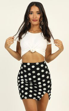 Reinvent Yourself Skirt In Black Floral