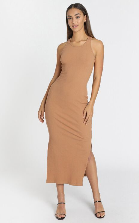Estelle Dress in Camel