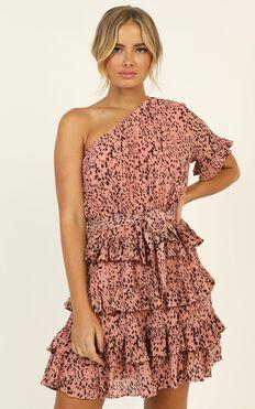 Alisha Dress In Pink Print