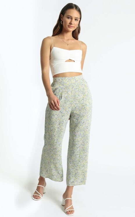 Zoi Pants in Blue Floral