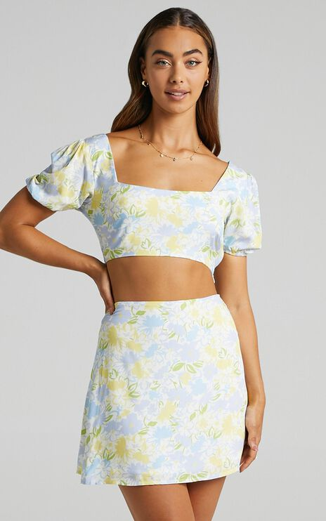 Are You Up To It Two PIece Set in Summer Petals