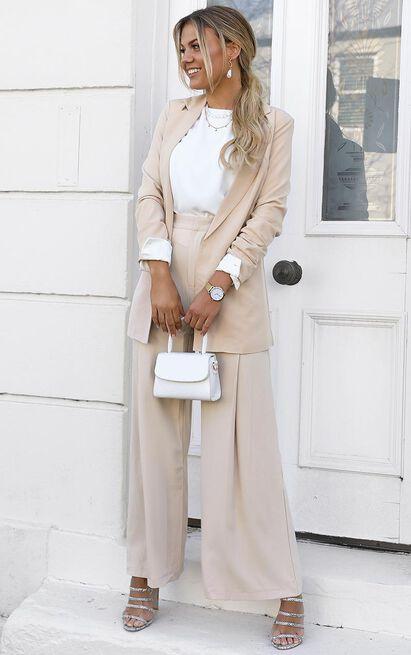 Inquisitive lady Blazer in beige - 20 (XXXXL), Beige, hi-res image number null