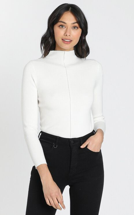 Camden Knit Top in White