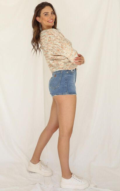 Greatest Weapon knit jumper in cream - 12 (L), Cream, hi-res image number null