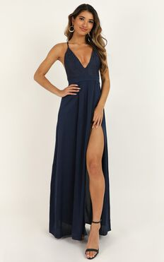 Inspired Tribe Maxi Dress In Navy