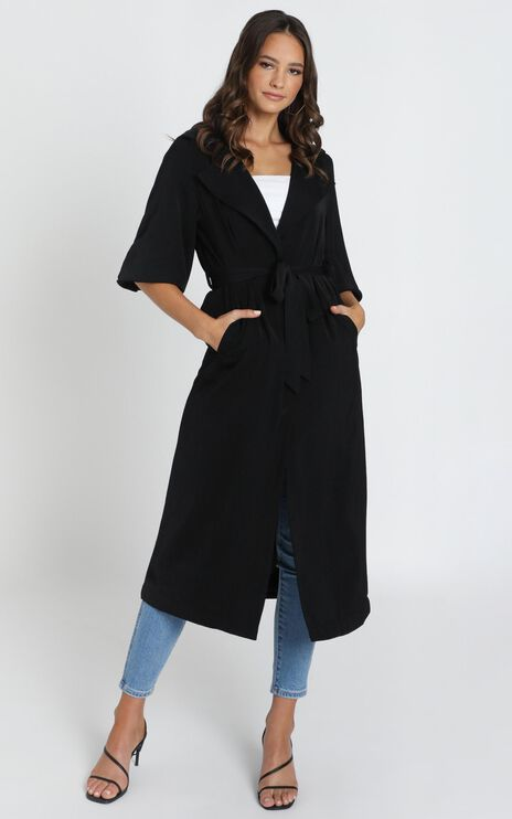 Catching On Trench Coat In Black