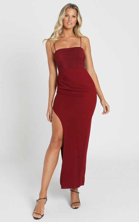 Mandy Maxi Dress in Wine