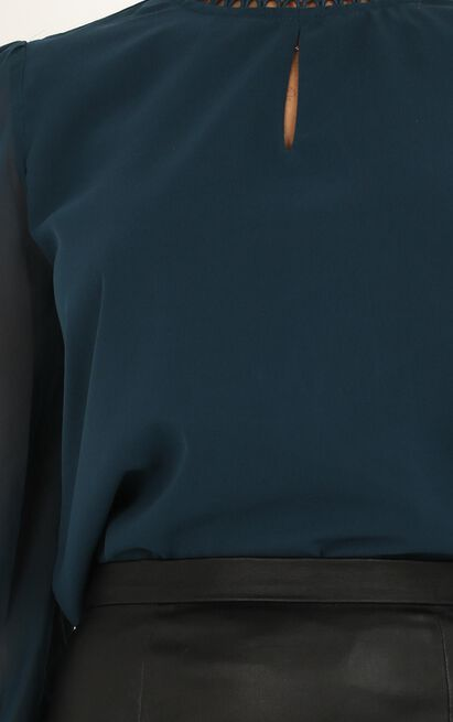 Fitting In Top In teal - 20 (XXXXL), Green, hi-res image number null