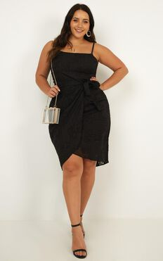 Heat Of The Moment Dress In Black Floral