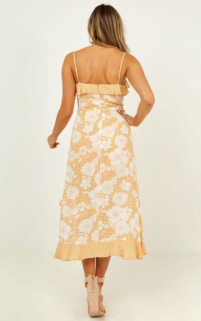 Some Place Else dress in sherbet print - 12 (L), Orange, hi-res image number null