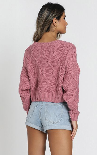 Chords of Glory Knit Jumper in dusty rose - 20 (XXXXL), Pink, hi-res image number null