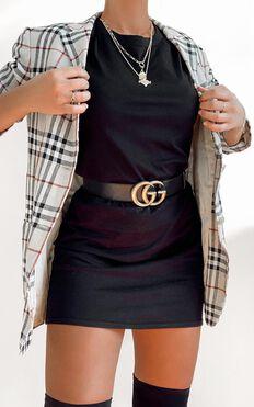 AS Colour - Mika Organic Tee Dress in Black