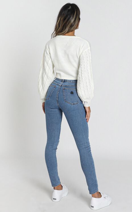 Abrand - A High Skinny Ankle Basher Jeans in La Blues