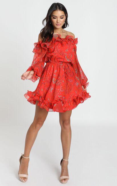 Lucinda Dress in red print - 12 (L), Red, hi-res image number null