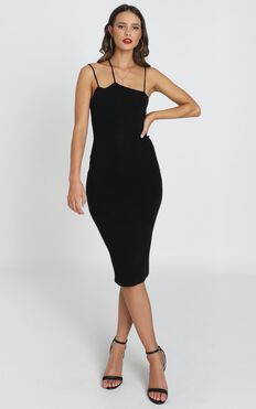 Alive At Midnight Dress In Black