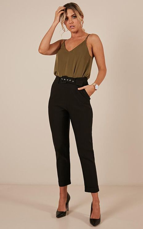 The Cool Girl Pants In Black