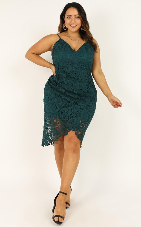Typical Lover Dress In Emerald Lace