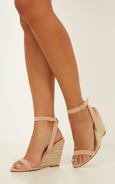 Billini - Marciana Wedges In Nude Nubuck