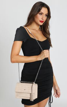 Peta and Jain - Lissy Chain Bag In Nude Croc