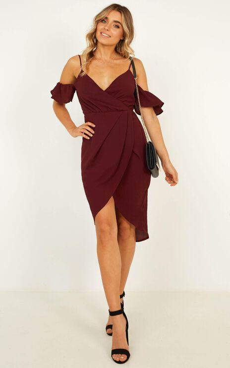 A Fair Go Dress In Wine