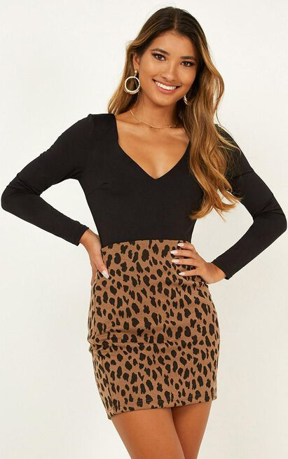 These Days Mini Skirt in leopard - 20 (XXXXL), Brown, hi-res image number null