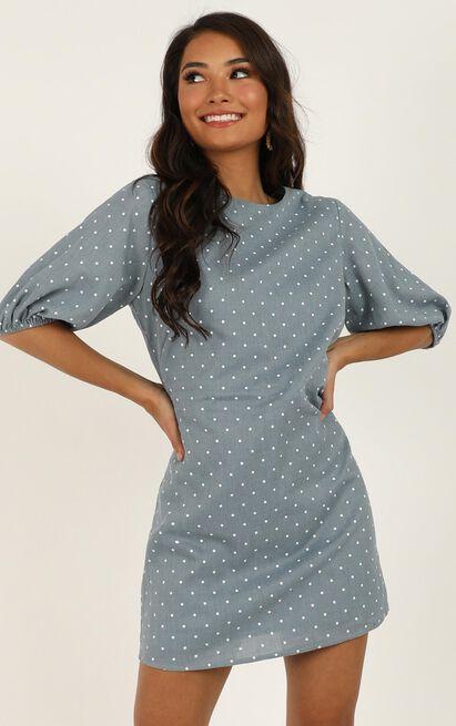 Imagine The Best Dress in blue spot - 20 (XXXXL), Blue, hi-res image number null